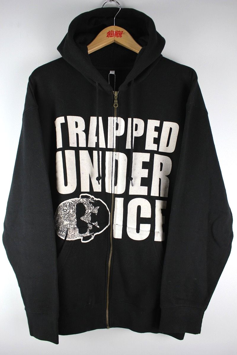USED!!! TRAPPED UNDER ICE / ZIP UP SWEAT HOODIE (00'S) / black