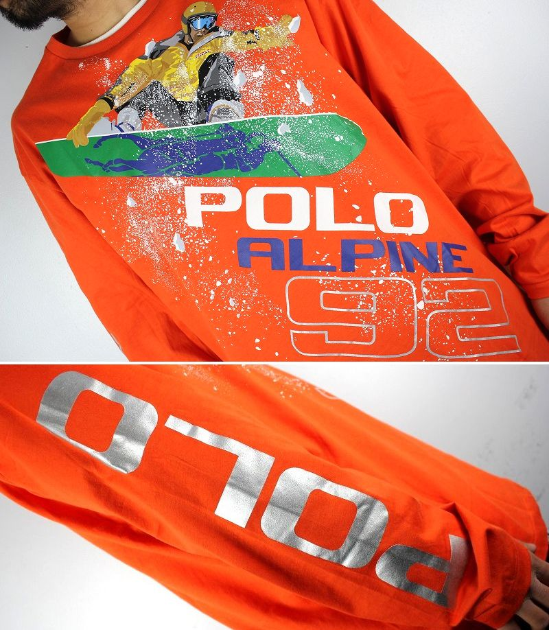 "POLO RALPH LAUREN / ""ALPINE 92"" LS Tee / orange"