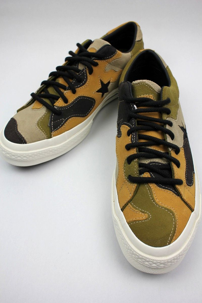 CONVERSE USA / ONE STAR OX SUEDE / patchwork camo×white