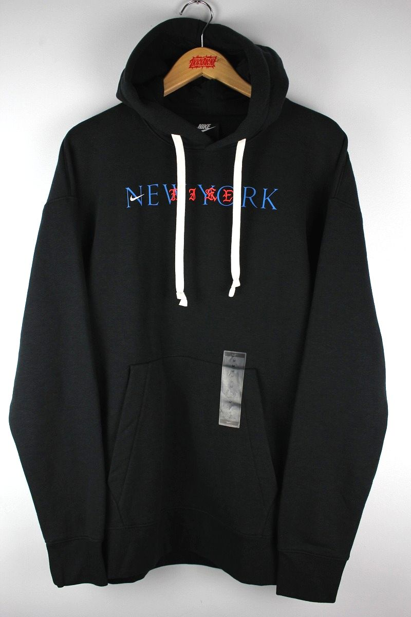 "NIKE / ""NEW YORK"" PULLOVER SWEAT HOODIE / black"
