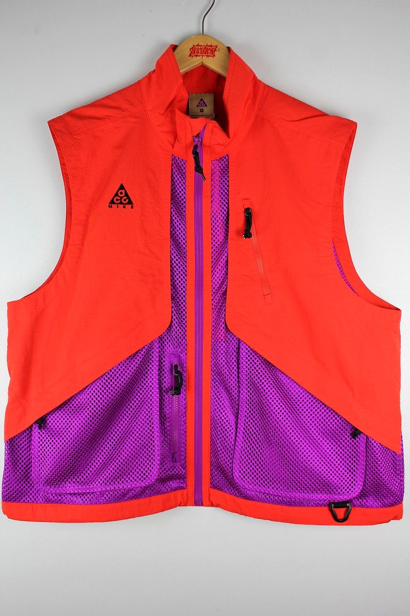 NIKE ACG / MESH-NYLON VEST / orange×purple