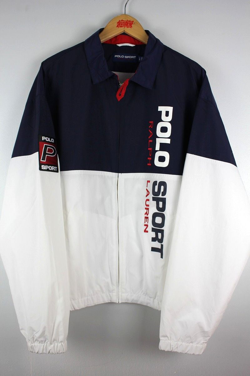 POLO SPORT / MESH LINER WINDBREAKER / navy×white×red