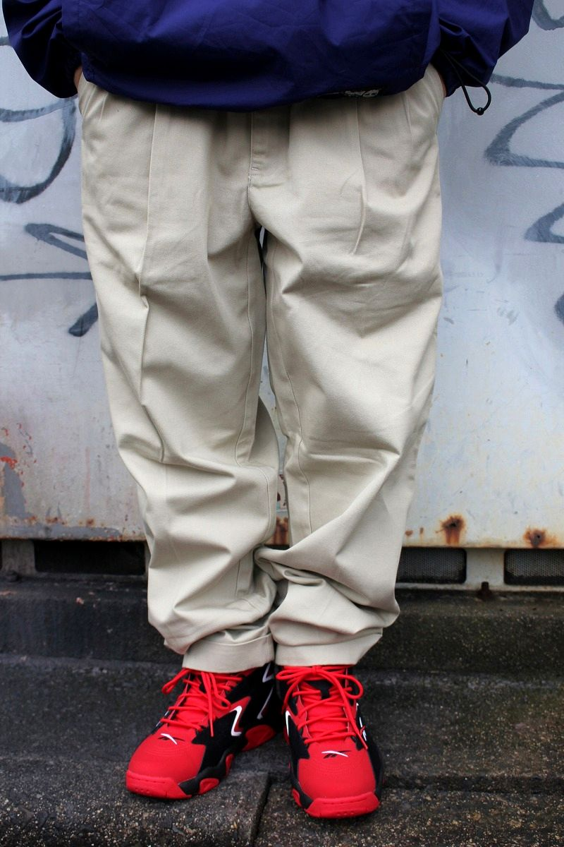 USED!!! POLO RALPH LAUREN / TWO-TUCK CHINO PANTS (90'S) / ivory
