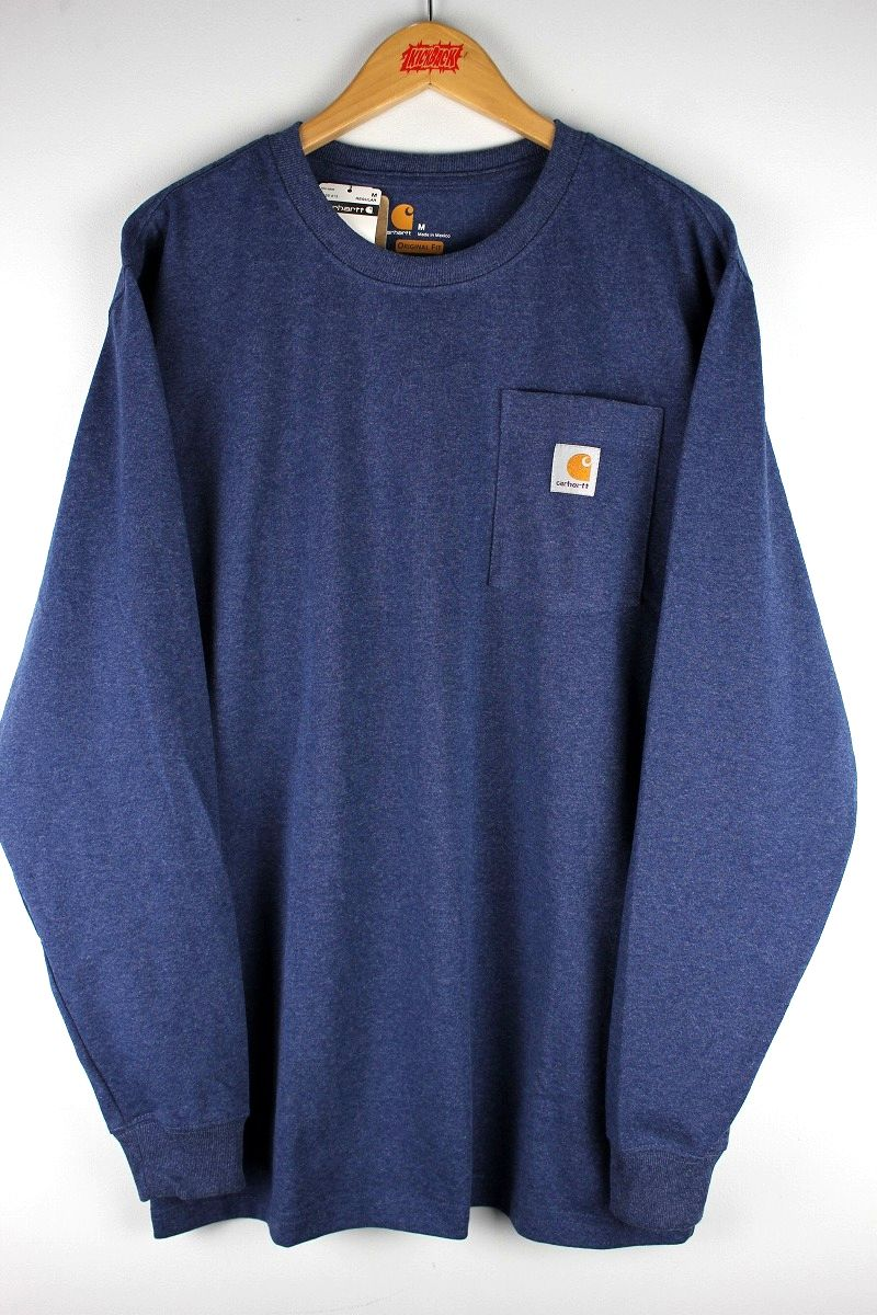 CARHARTT / POCKET LS Tee / indigo heather