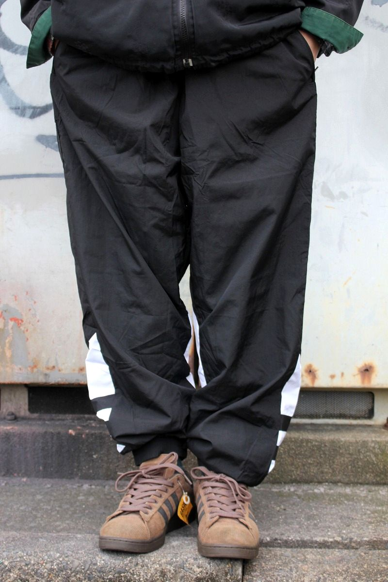"adidas ORIGINALS / ""BIG TREFOIL"" NYLON TRACK PANTS / black×white"
