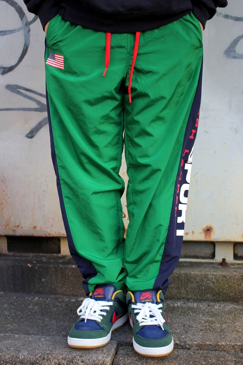 POLO SPORT / NYLON TRACK PANTS / green×navy