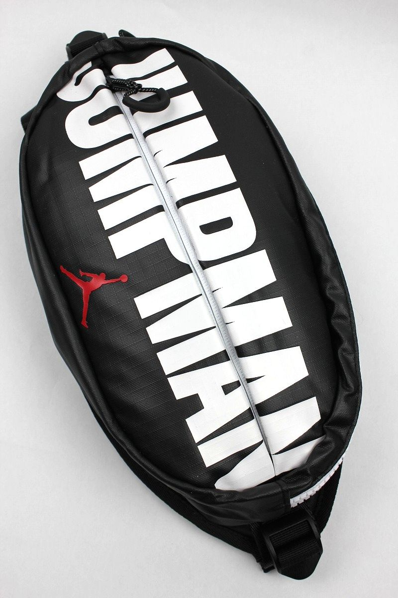 "AIR JORDAN / ""JUMPMAN"" CROSSBODY BAG / black×white"