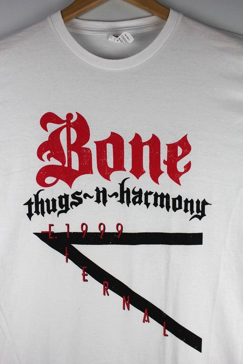 """BONE THUGS-N-HARMONY / """"E.1999 LOGO"""" Tee / white"""