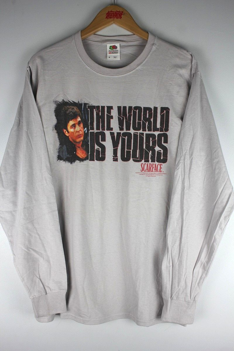 "SCARFACE / ""THE WORLD IS YOURS"" LS Tee / light grey"