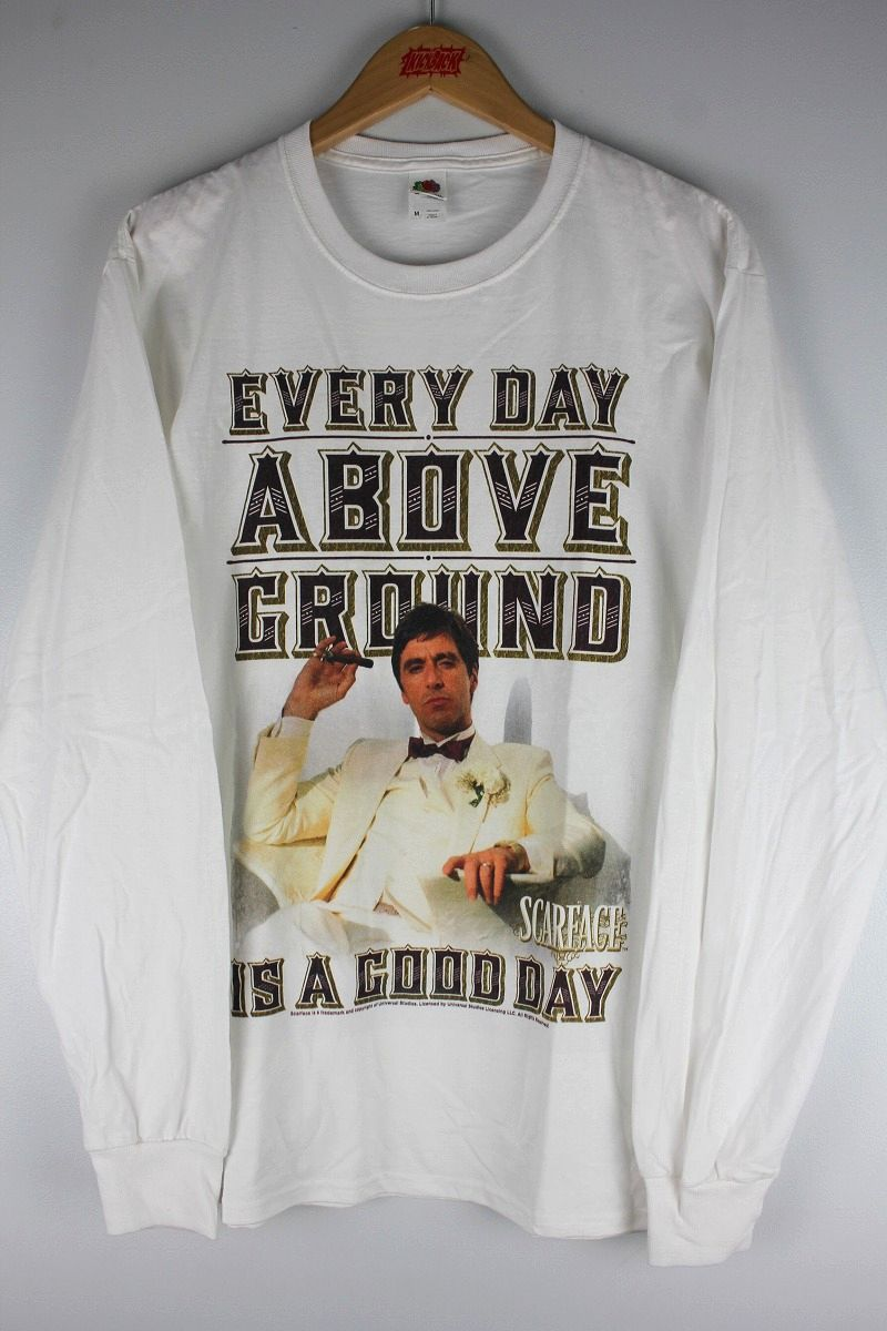 "SCARFACE / ""ABOVE GROUND"" LS Tee / white"