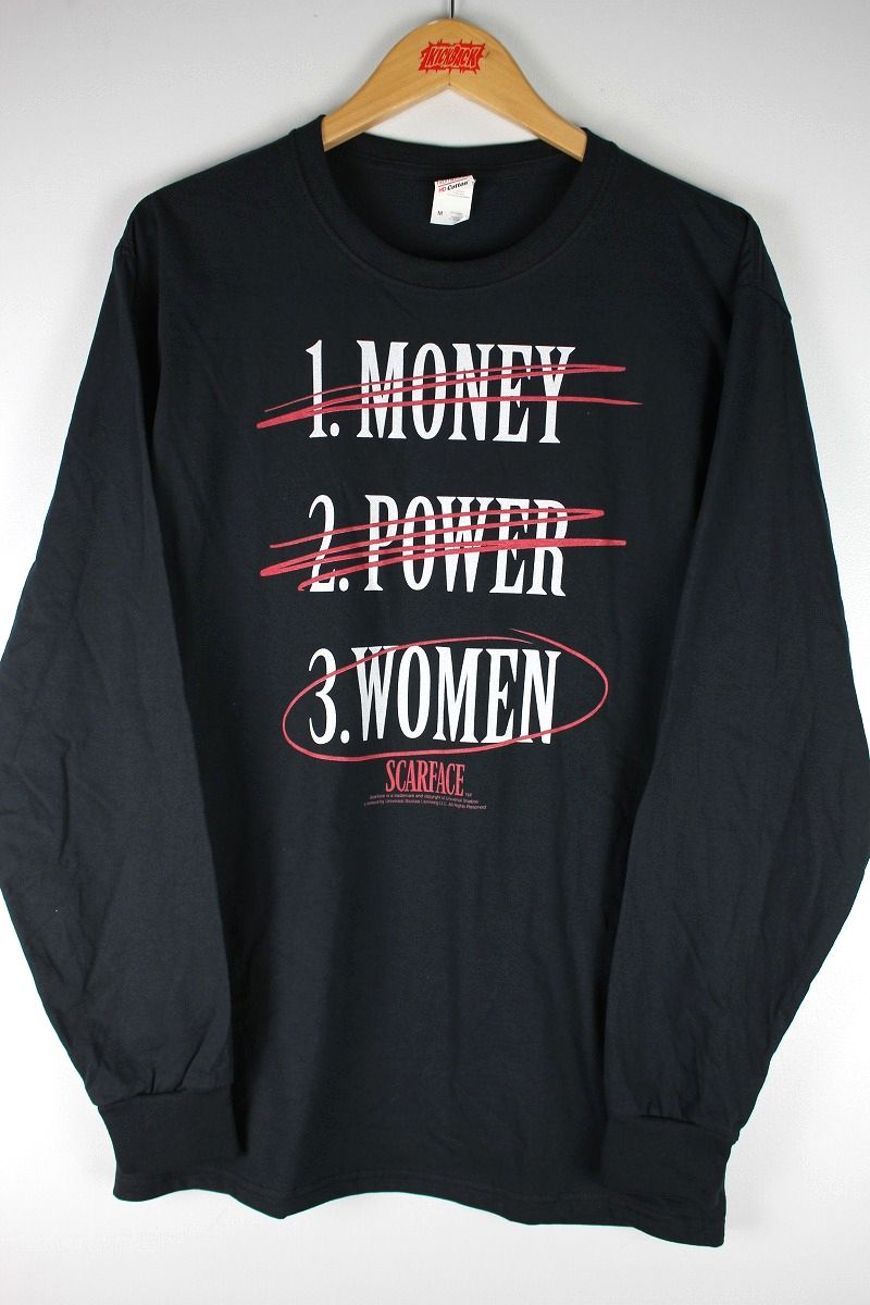 "SCARFACE / ""POWER MONEY WOMEN"" LS Tee / black"