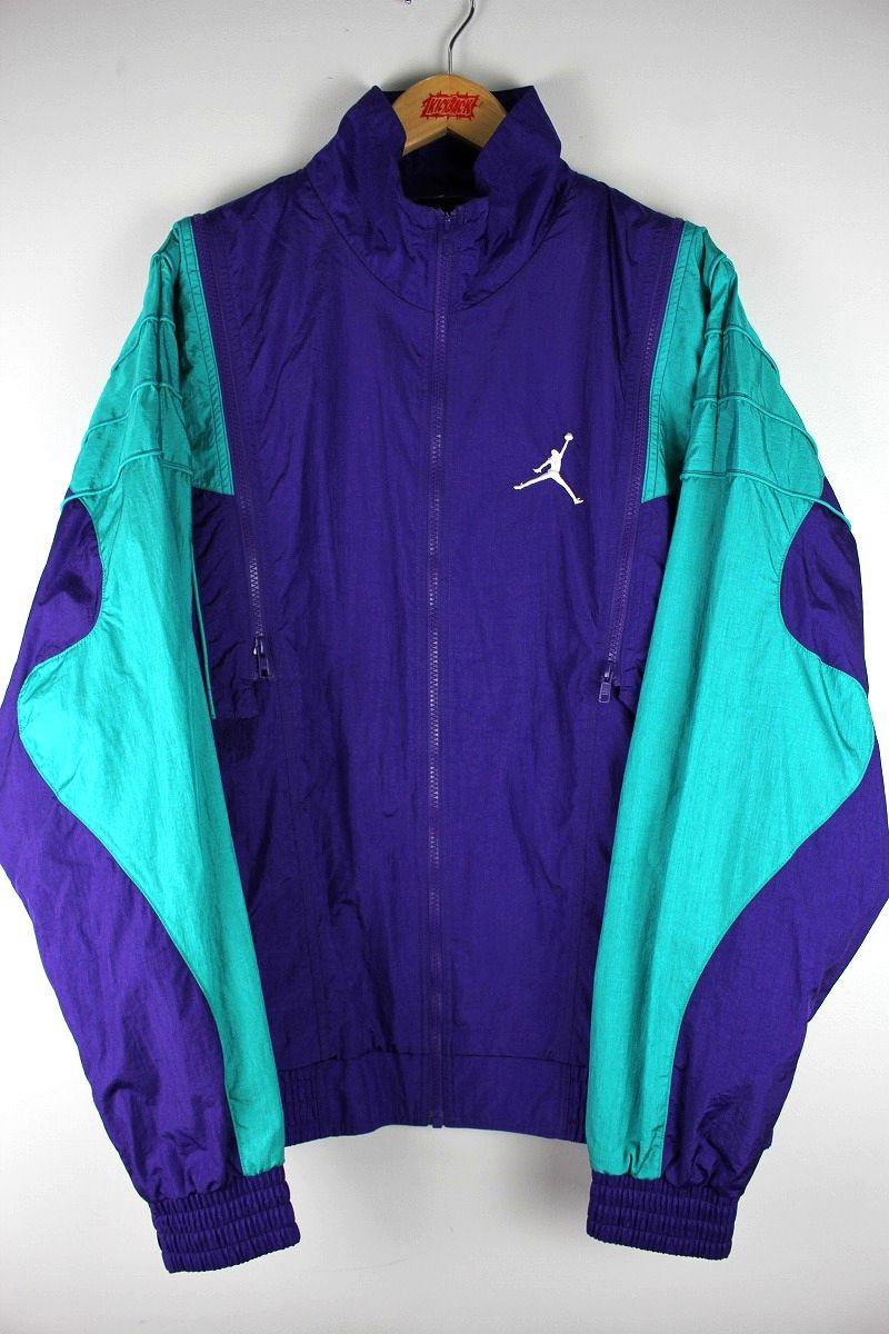 USED!!! AIR JORDAN / NYLON WIDBREAKER / purple×turquoise