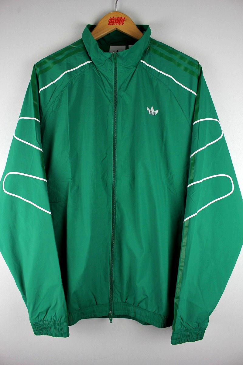 "adidas ORIGINALS / ""FLAME STRIKE"" WINDBREAKER / green×white"