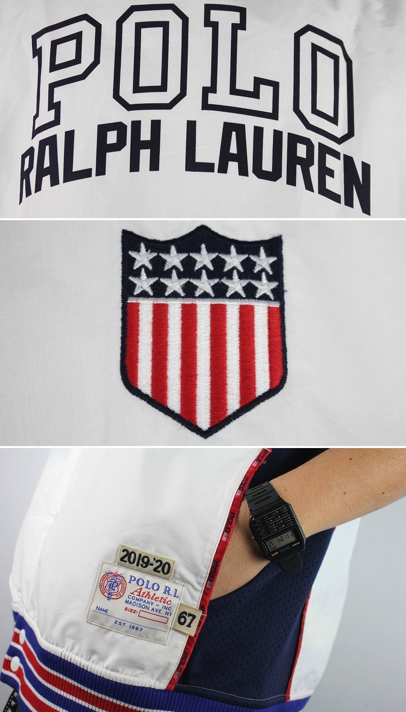 """POLO RALPH LAUREN / """"CHARIOTS"""" SHOOTING JERSEY / white×red×blue"""