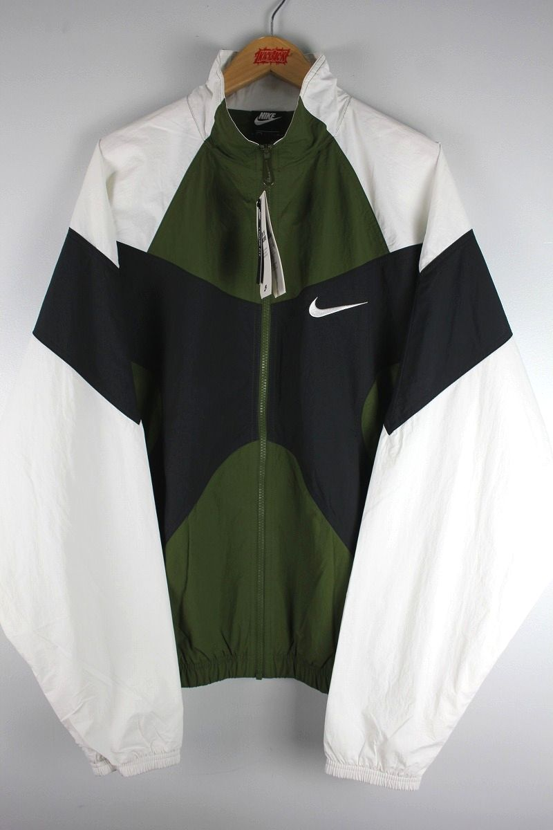 NIKE / RE-ISSUE 1996 NYLON TRACK JACKET / olive×black×white