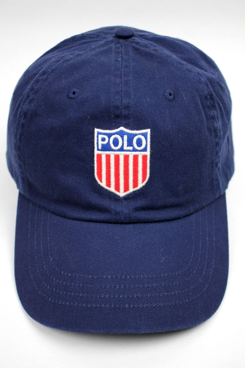 "POLO RALPH LAUREN / ""SHIELD LOGO"" STRAPBACK CAP / navy"