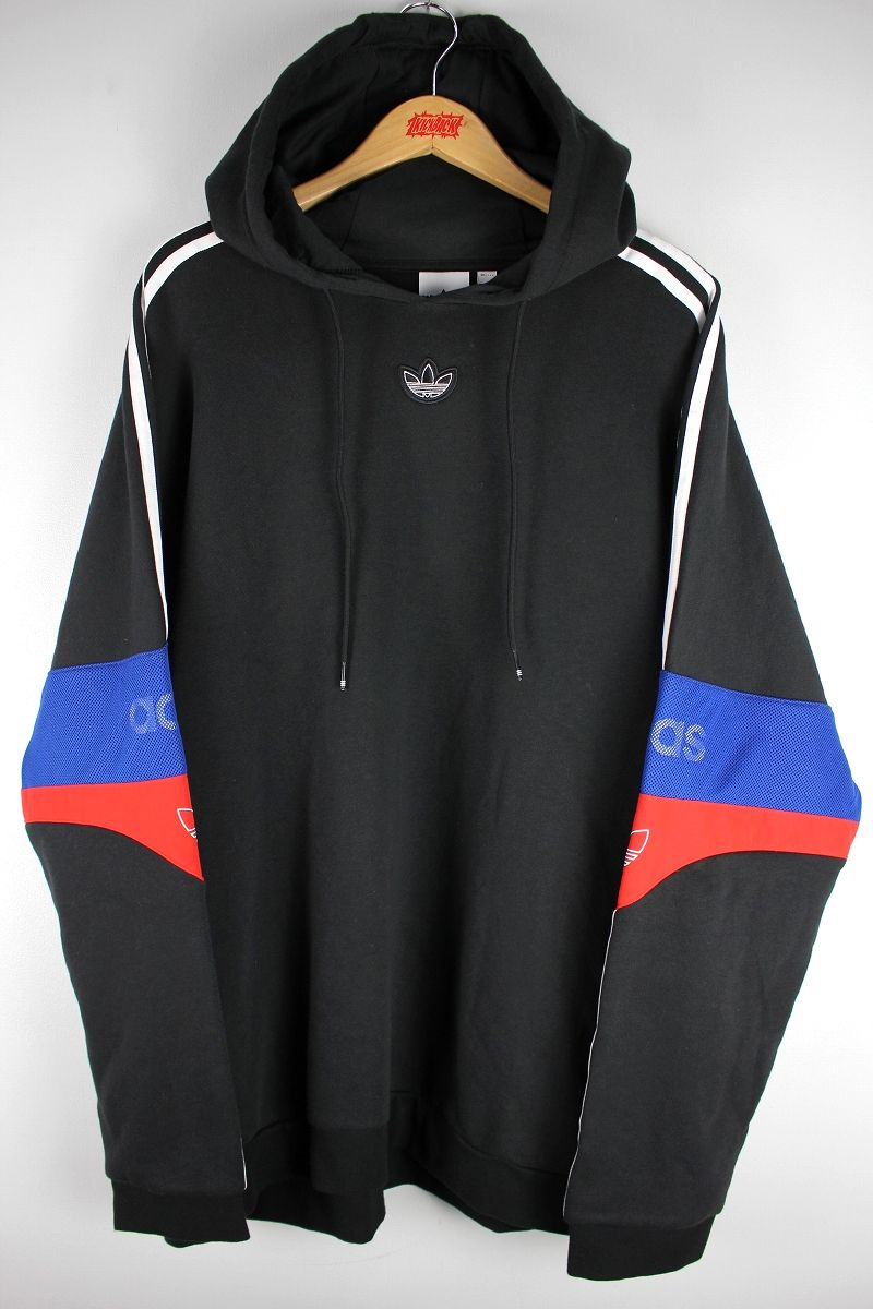 "adidas ORIGINALS / ""TS TREFOIL"" PULLOVER SWEAT HOODIE / black×blue×red"