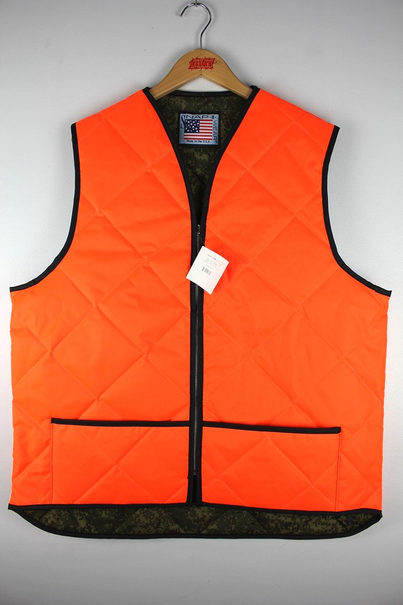 SNAP'N'WEAR / QUILTED HUNTING VEST / orange×digital camo