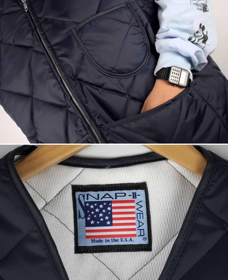 SNAP'N'WEAR / THERMAL-LINED QUILTING VEST / navy