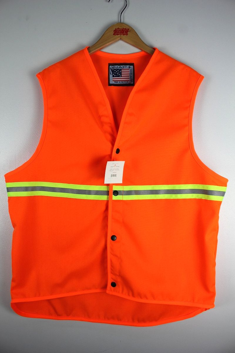 SNAP'N'WEAR / SAFETY VEST with TWO-TONE REFLECTIVE TRIM / orange