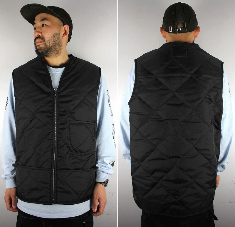 SNAP'N'WEAR / THERMAL-LINED QUILTING VEST / black