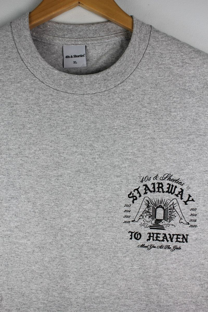 "40S & SHORTIES / ""STAIRWAY "" Tee / heather grey"