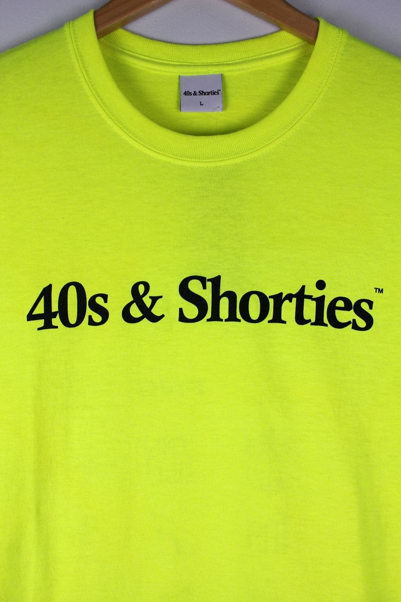 "40S & SHORTIES / ""SCHIZO"" Tee / flash yellow"