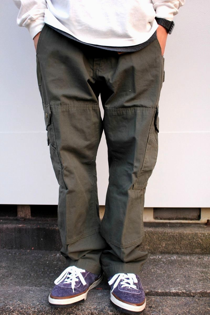 CARHARTT / RELAX FIT RIPSTOP CARGO WORK PANTS / olive