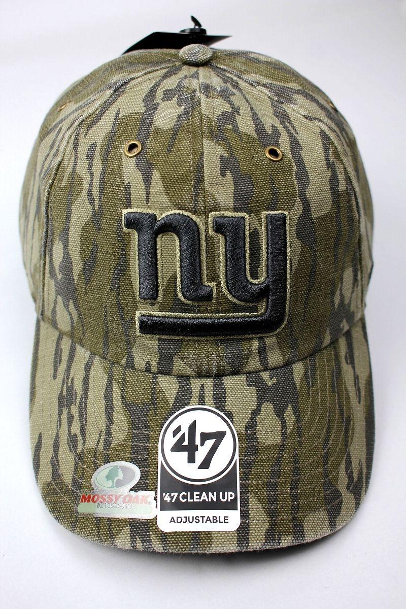"CARHARTT×47 BRAND×MOSSY OAK / ""NEWYORK GIANTS"" CAMO STRAPBACK CAP / real tree camo"
