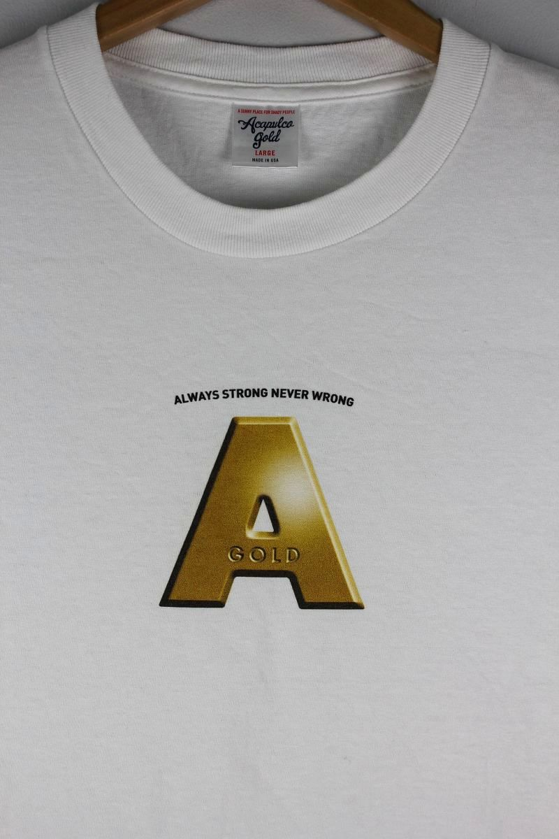 "ACAPULCO GOLD / ""METAL A"" Tee / white"