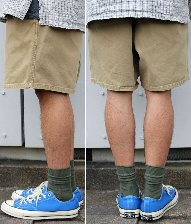 USED!!! POLO RALPH LAUREN / TWO-TUCK CHINO SHORTS (90'S) / beige