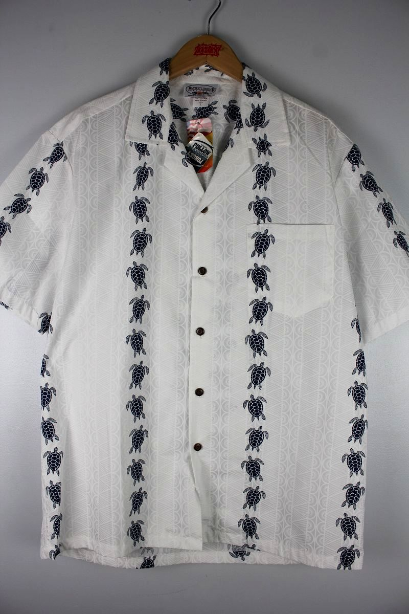"PACIFIC LEGEND / ""TORTOISE"" ALOHA SHIRTS / white"