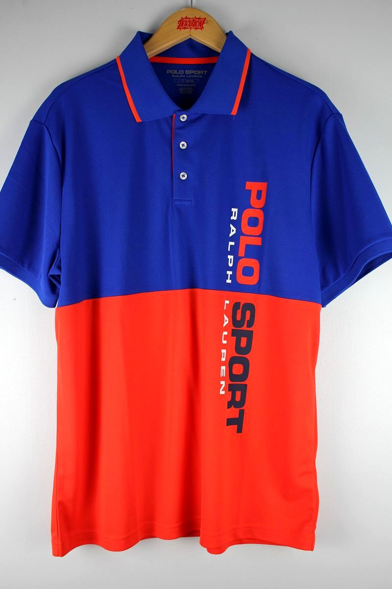 POLO SPORT / 2-TONE POLO SHIRTS / blue×orange