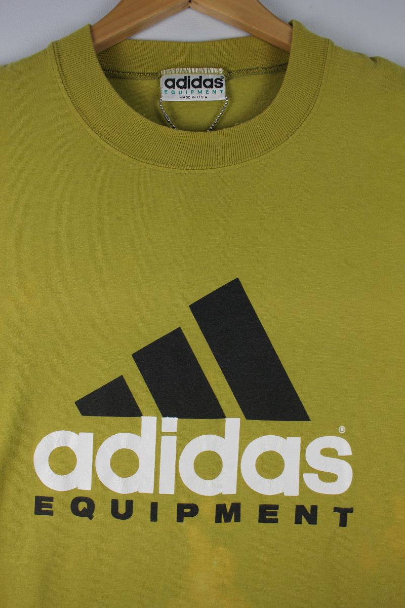 USED!!! adidas EQUIPMENT / LOGO Tee (90'S) / dark mustardUSED!!! adidas EQUIPMENT / LOGO Tee (90'S) / dark mustard