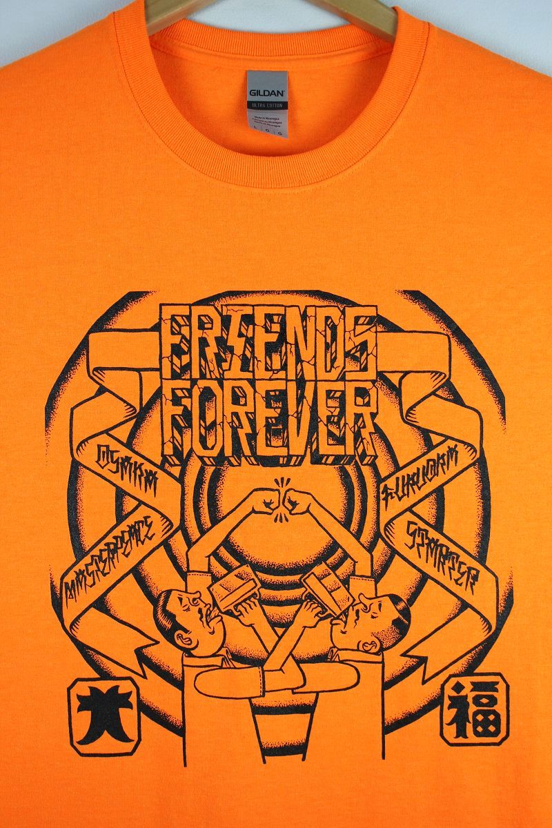 """STARTER×MASTER PEACE / """"FRIENDS FOREVER"""" Tee / orange"""