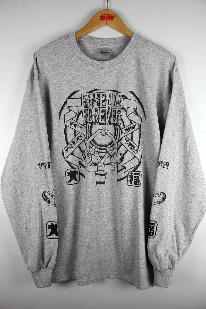 """STARTER×MASTER PEACE / """"FRIENDS FOREVER"""" LS Tee / heather grey"""