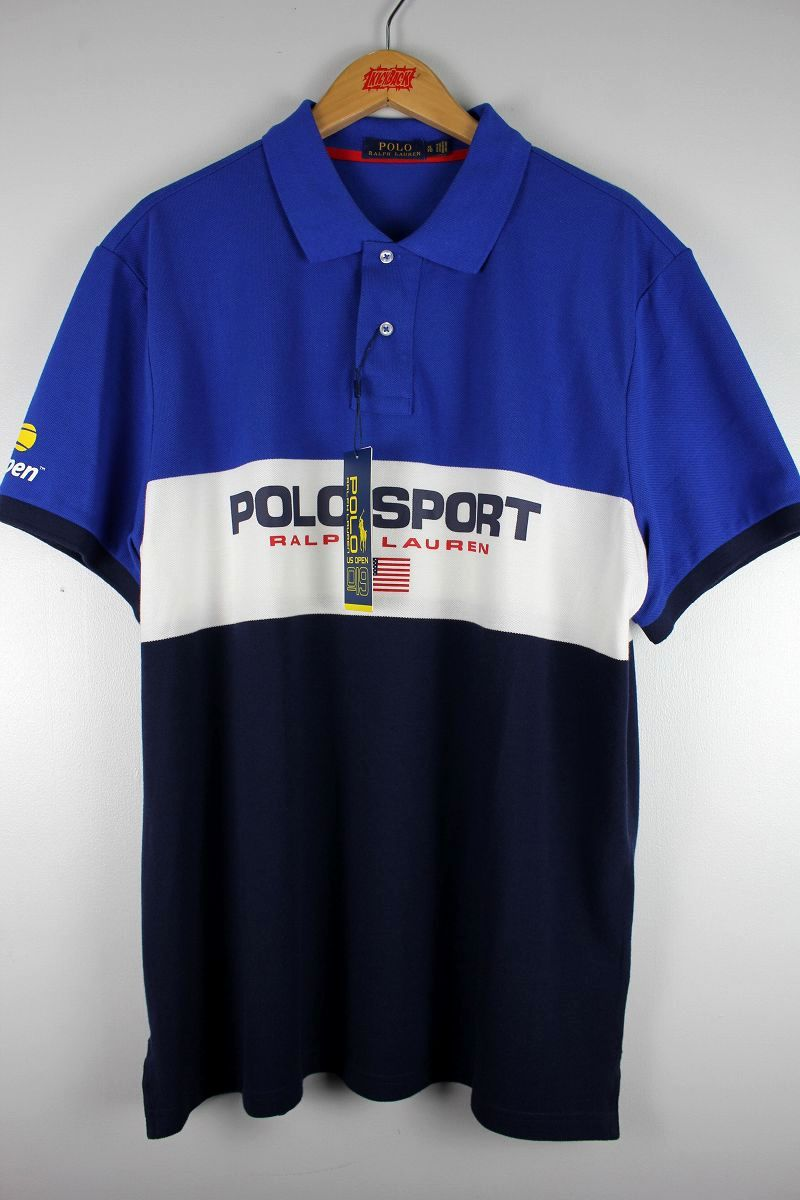 "POLO SPORT / ""US OPEN 2019"" POLO SHIRTS / blue×white×navy"