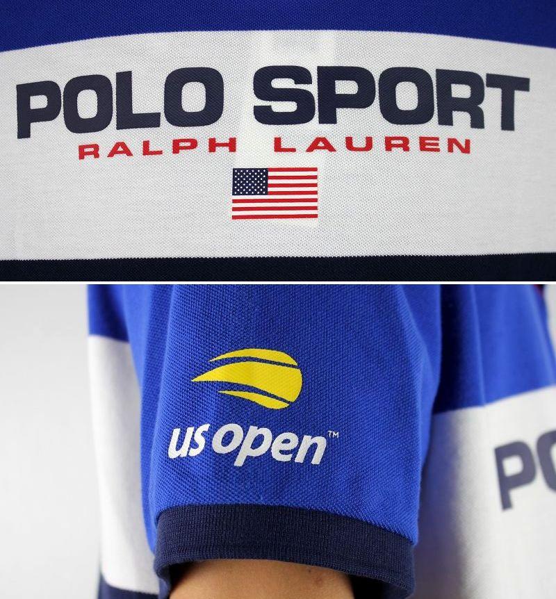 "POLO SPORT / ""US OPEN 2019"" POLO SHIRTS / blue×white×navy"
