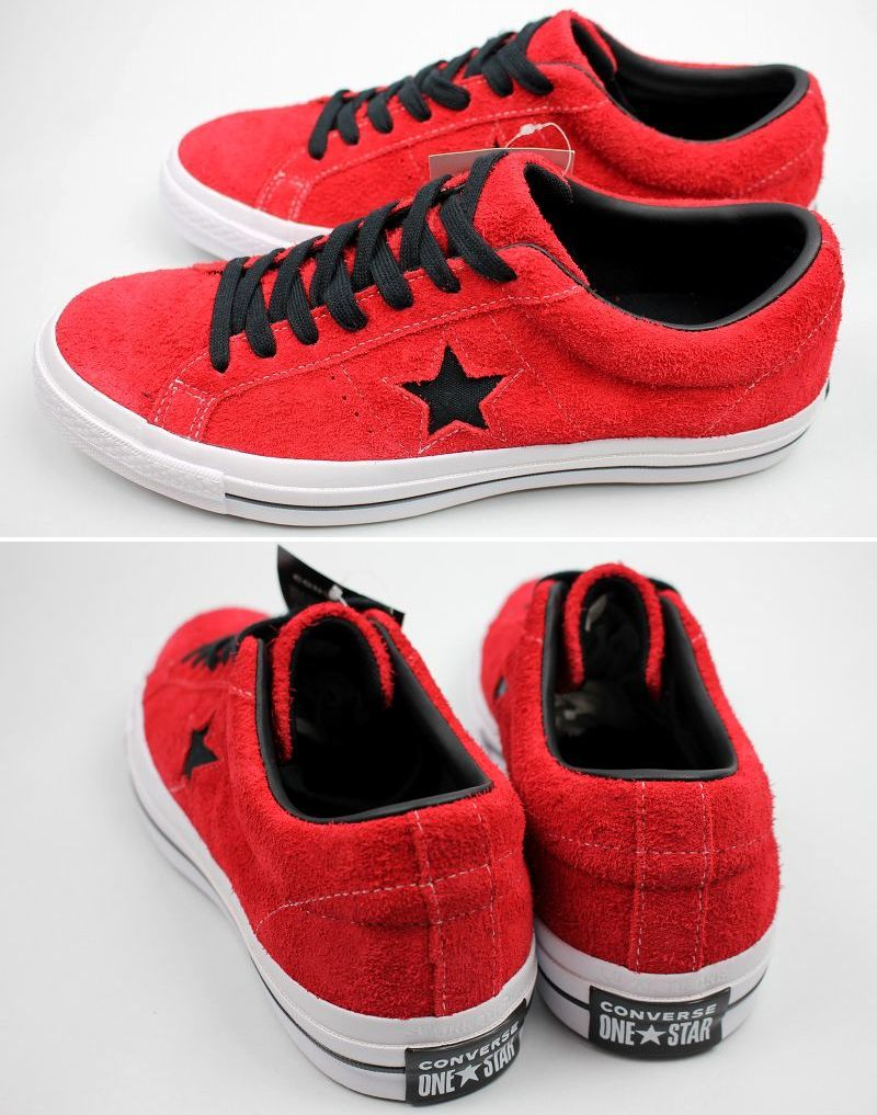 CONVERSE USA / ONE STAR OX SUEDE / red×black×white