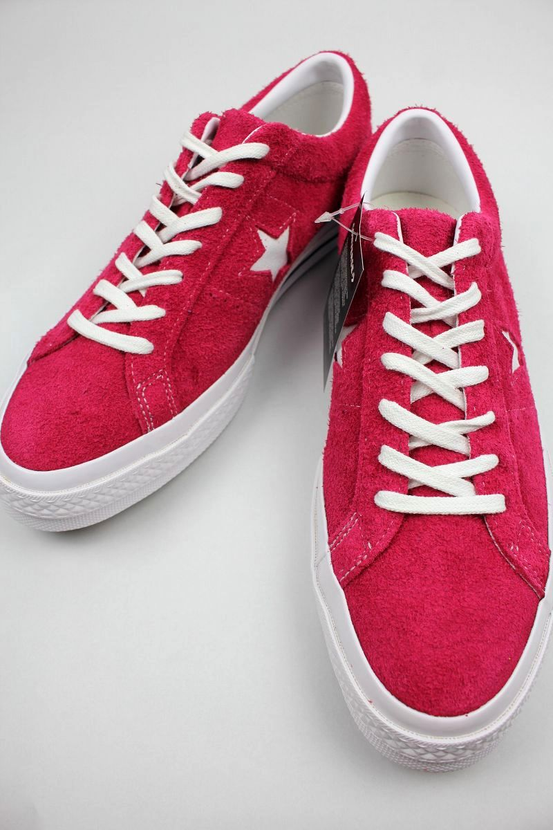 CONVERSE USA / ONE STAR OX SUEDE / deep pink×white