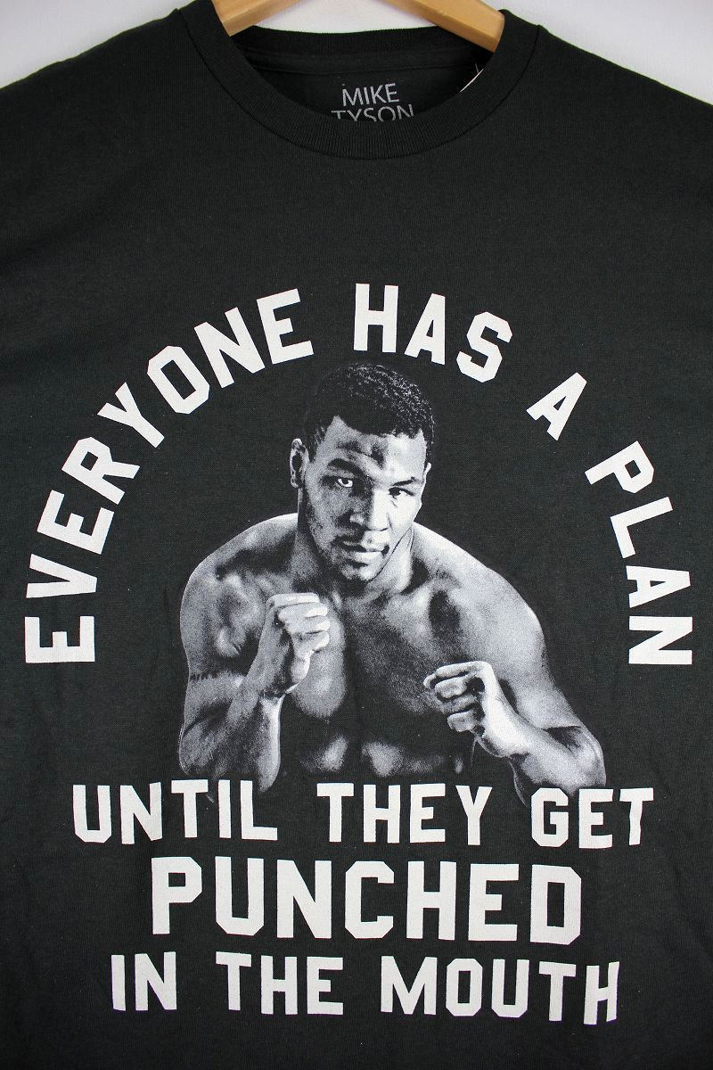 "MIKE TYSON / ""EVERYONE HAS A PLAN"" Tee / black"