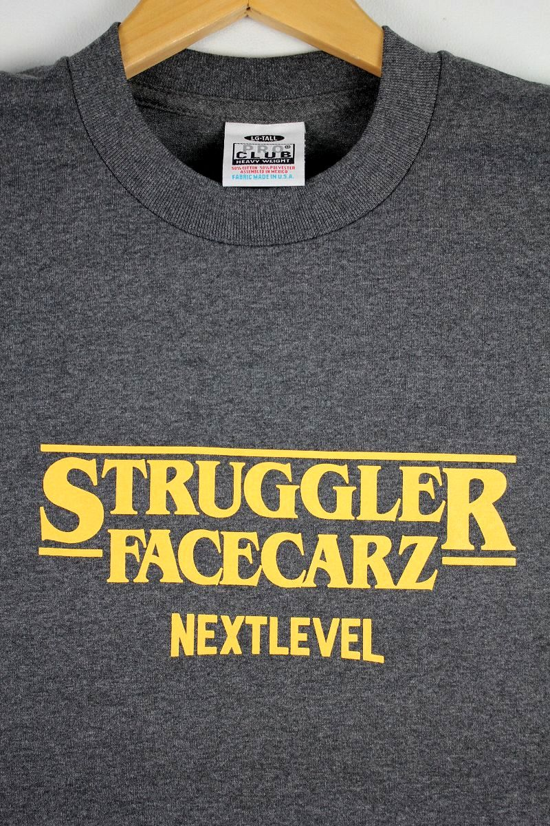 "FACECARZ / ""STRUGGLER THINGS"" Tee / chacoal heather"