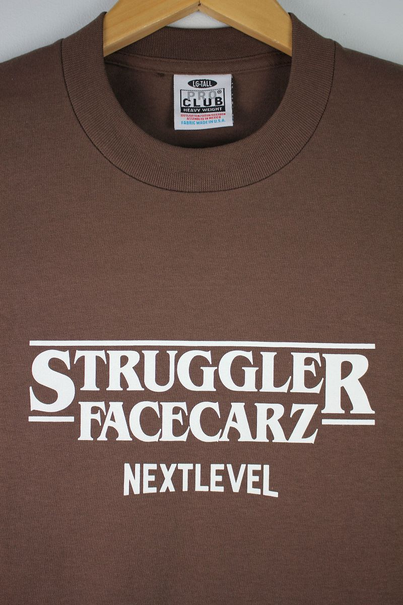 "FACECARZ / ""STRUGGLER THINGS"" Tee / brown"