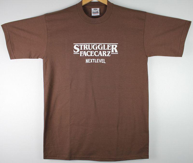 """FACECARZ / """"STRUGGLER THINGS"""" Tee / brown"""