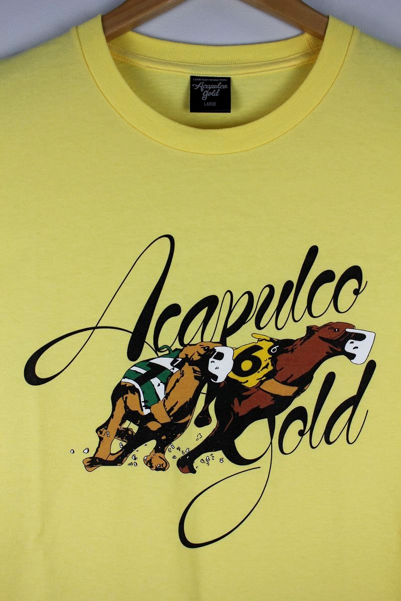 "ACAPULCO GOLD / ""GREYHOUND RACING"" Tee / light yellow"