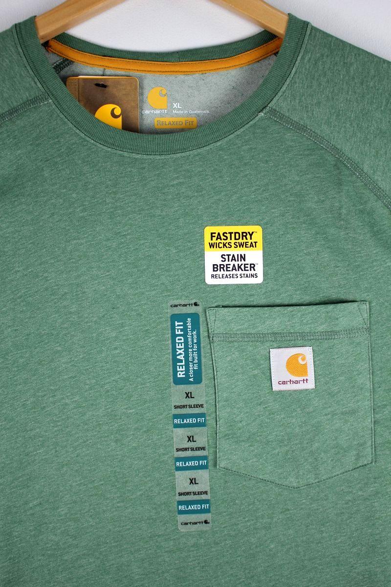 CARHARTT / FORCE COTTON DELMONT Tee / heather green