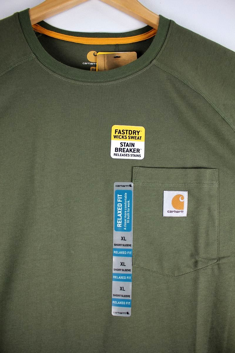 CARHARTT / FORCE COTTON DELMONT Tee / olive