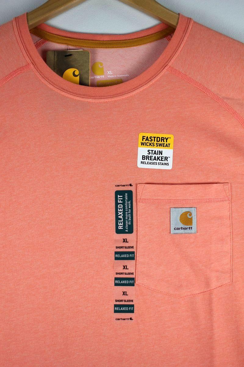 CARHARTT / FORCE COTTON DELMONT Tee / light pink