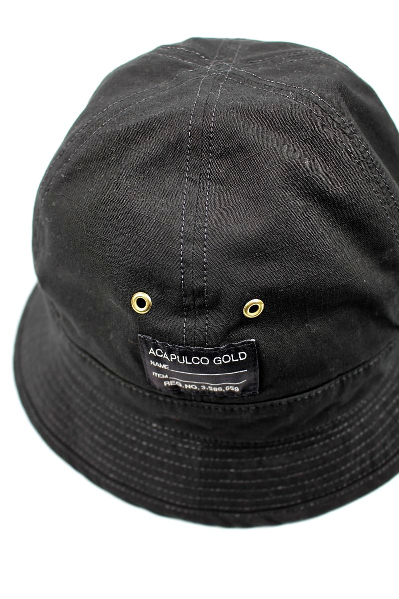ACAPULCO GOLD / AG RIP-STOP BUCKET HAT / black