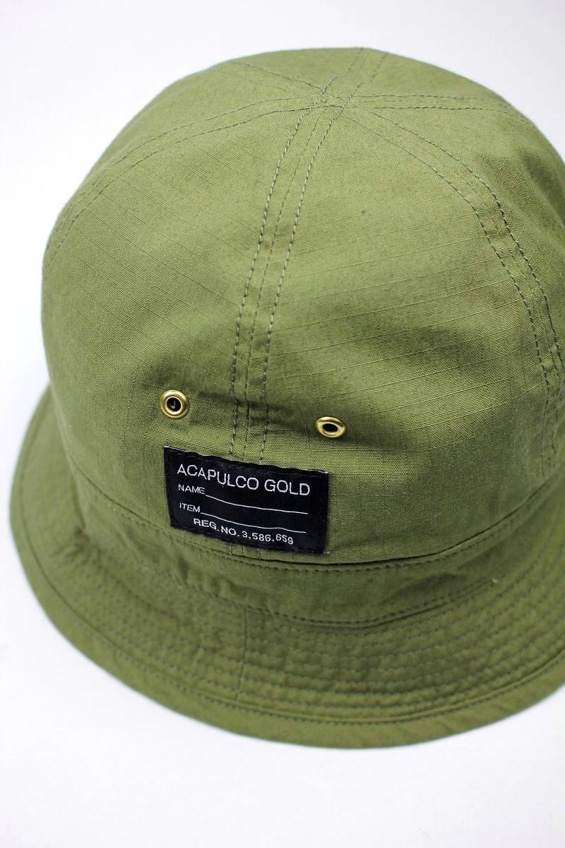ACAPULCO GOLD / AG RIP-STOP BUCKET HAT / army green